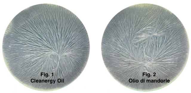 Fig 1 Cleanergy Oil Fig. 2 Olio mandorle